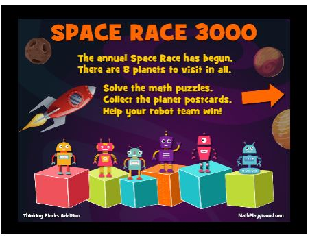 Space Race 3000 at MathPlayground.com